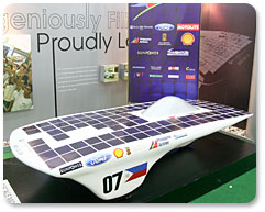 a solar car projection model